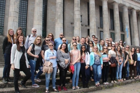 In one year, more than 100 law students and professors had international ex