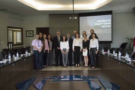 Representatives from Concordia University of Edmonton visit Univates