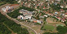 Imagem aérea do câmpus de Lajeado